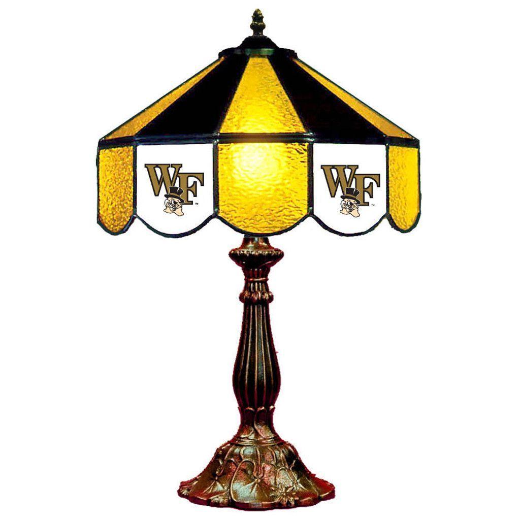 "14"" Wake Forest Demon Deacons Desk Lamp w/ Tiffany Shade"
