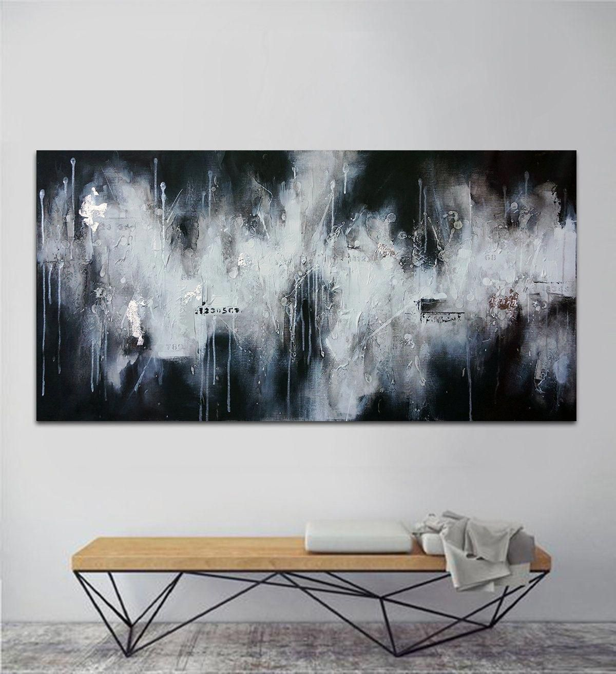 Title Music Vibes Original Abstract Black And White Etsy Abstract Art Painting Minimalist Painting Abstract Art Painting Techniques