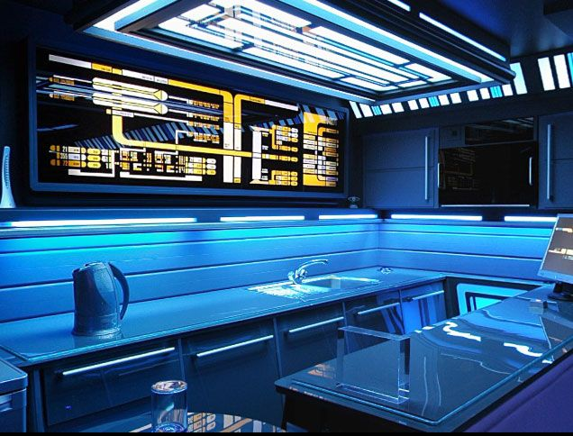 This Is Tony Alleyne S Kitchen In The London Flat He Renovated As A Star Trek Homage
