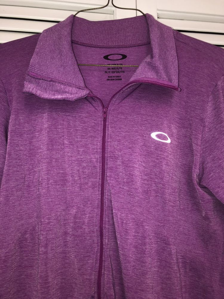 20f586a4d7 Oakley Womens Purple Stretch Full Zip Running Jacket XLWith Thumb Holes   fashion  clothing  shoes  accessories  womensclothing  activewear (ebay  link)