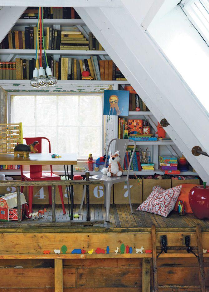 in the attic Spaces and children\u0027s fun Pinterest Combles
