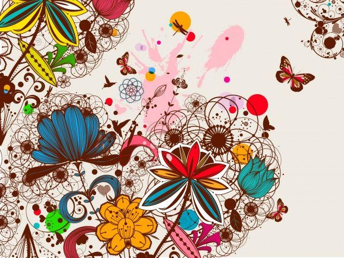 Creative Vintage Floral Design File PPT Backgrounds Inspire