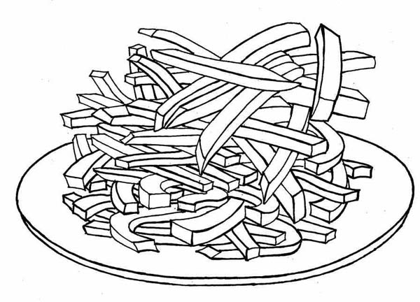Delicious French Fries Coloring Page Coloring Sky Coloring Pages Food Coloring Pages Color