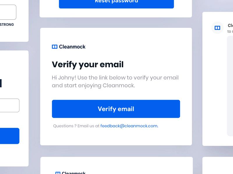 Email Verification Digital marketing design, Landing