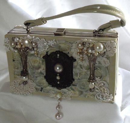 #STEAMPUNK #WEDDING....vintage couture purse, - CraftStylish