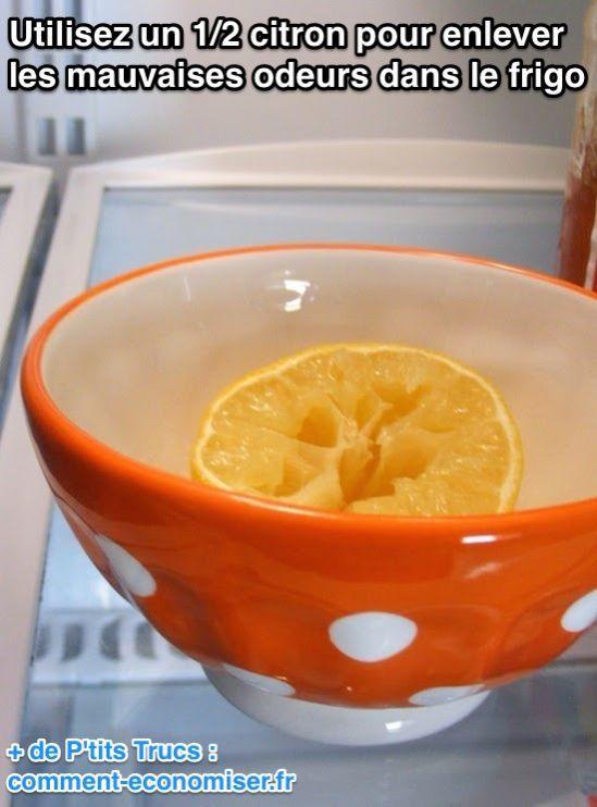 mauvaises odeurs dans le frigo utilisez un citron pour le dsodoriser - Comment Enlever Les Mauvaises Odeurs Dans Une Maison