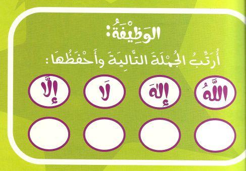 درس نموذجي للاطفال عن عقيده التوحيد مستوحى من كتاب تعليم الصبيان التوحيد Islamic Kids Activities Islam For Kids Islamic Studies