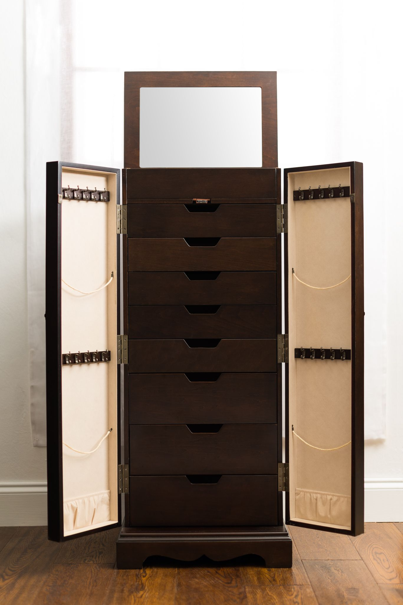Hives And Honey Jewelry Armoire For Pretty Home Interior Espresso  # Muebles Joyeros Ikea