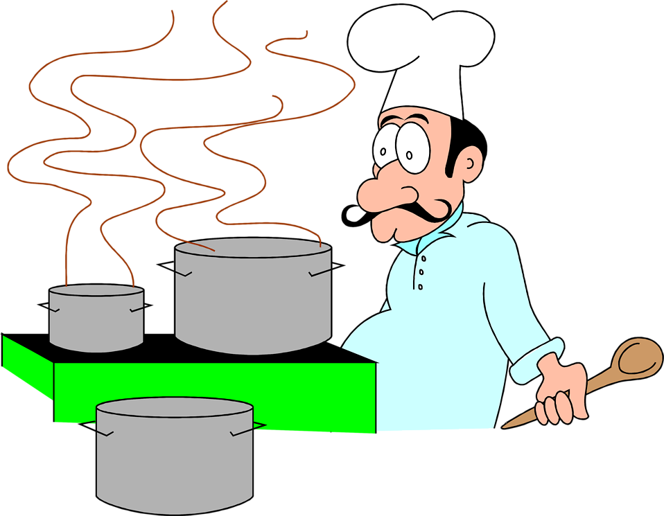 Chef Cooking Cartoon Free Stock Photo Illustration of a