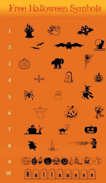 Free Halloween Fonts Dingbats Wingdings Free Halloween Fonts Halloween Fonts Free Halloween