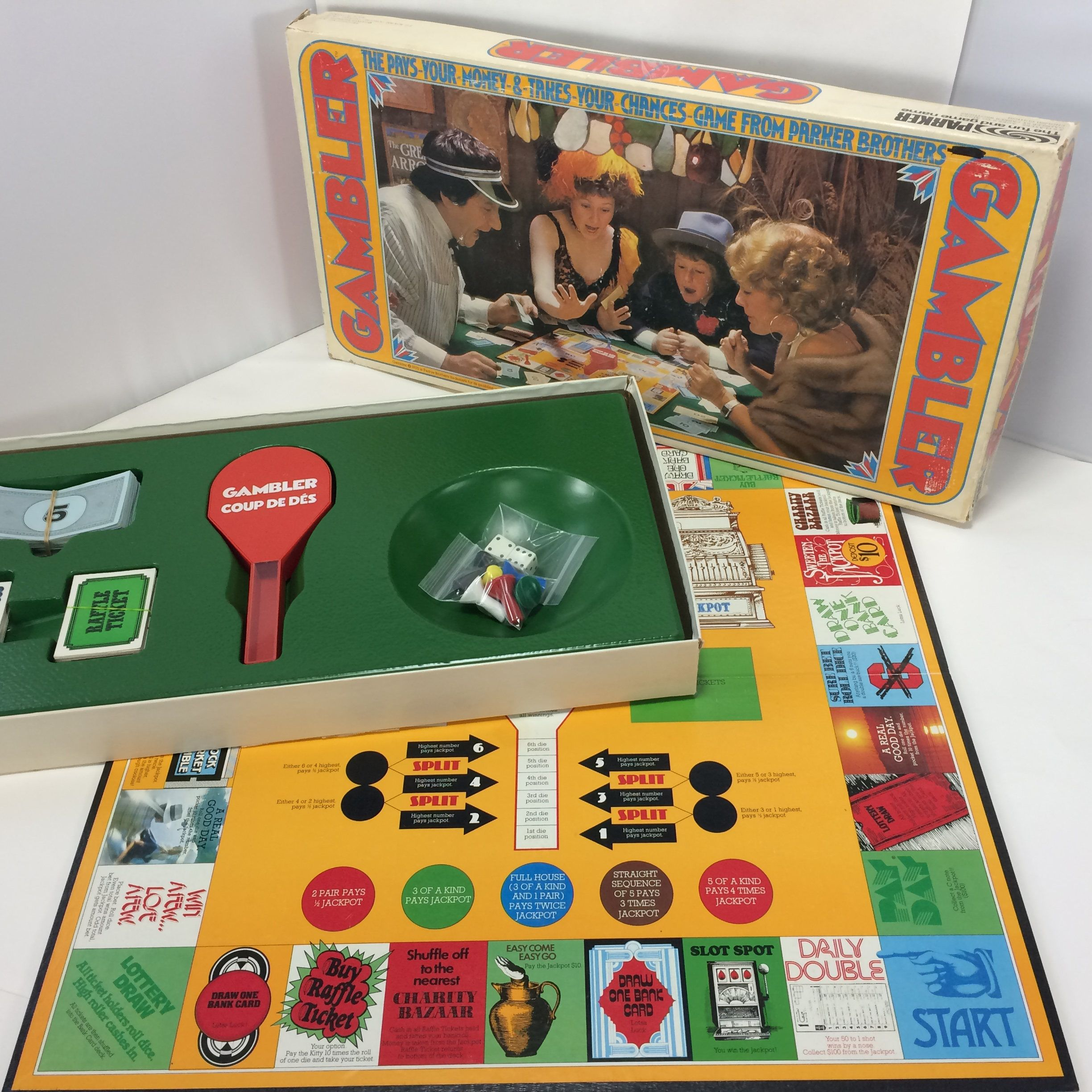 The Gambler Parker Brothers 1975 Pays Your Money Takes Your Etsy Gambler Vintage Board Games Oregon Trail Card Game