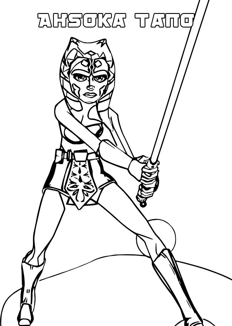 Ahsoka Tano Coloring Pages Best Coloring Pages For Kids In 2021 Free Printable Coloring Pages Movies And Tv Shows Favorite Movies