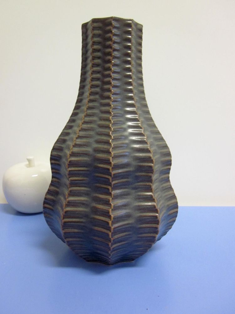 Luisenburg Heinrich Fuchs stunning mid-century vase  Axel Salto style 60s