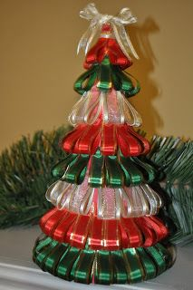 the crafty crystal 12 days of christmas crafts 5 ribbon tree