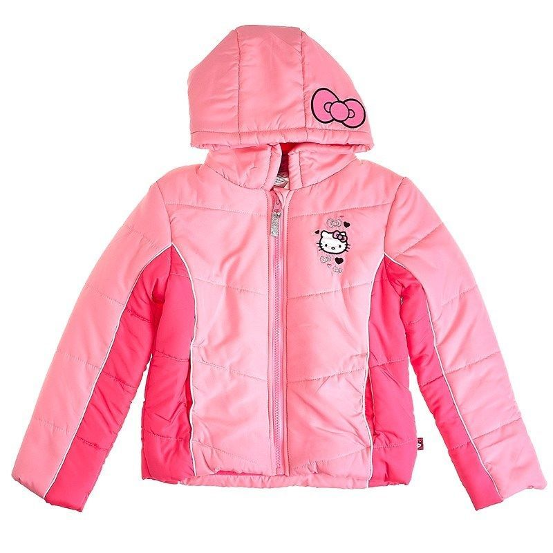 b21ee06cc8220 Hello Kitty Girls Color Block Puffer Coat with Hood