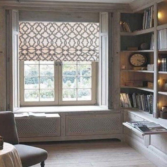 White Linen Roman Shades