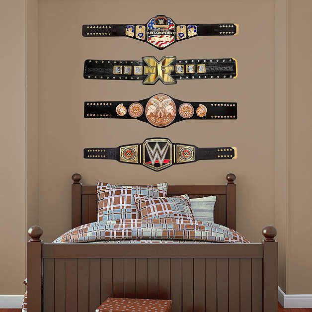 Wwe Title Belts Collection Wwe Wrestling Wwe Bedroom Wwe Bedroom Decor Big Boy Bedrooms