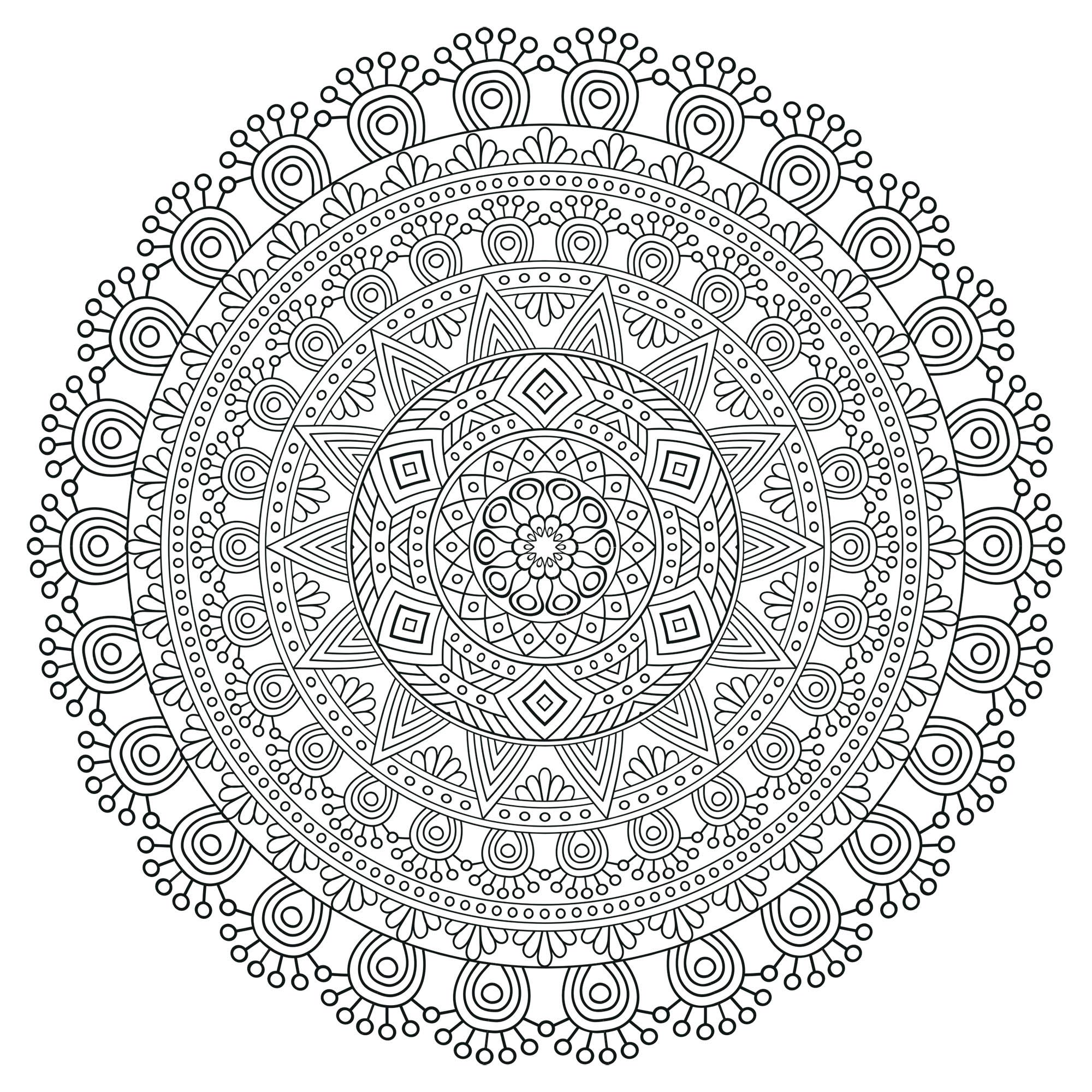 Zen Anti Stress Mandala 5 From The Gallery Mandalas Mandala Coloring Mandala Coloring Pages Pattern Coloring Pages