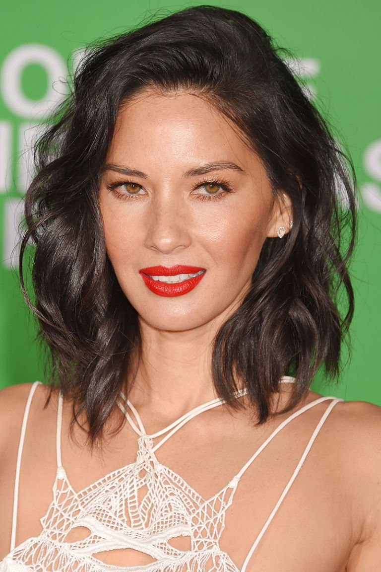 Our favorite haircuts for spring olivia munn straight hair and