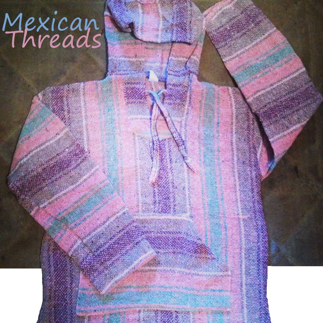 Pink And Purple Baja Hoodie Drug Rug For Girls And Women