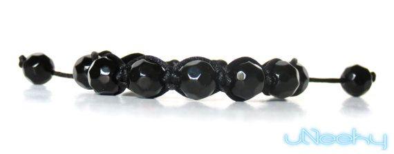 Black Shamballa Bracelet  Mens Shamballa Bracelet by uNeeky