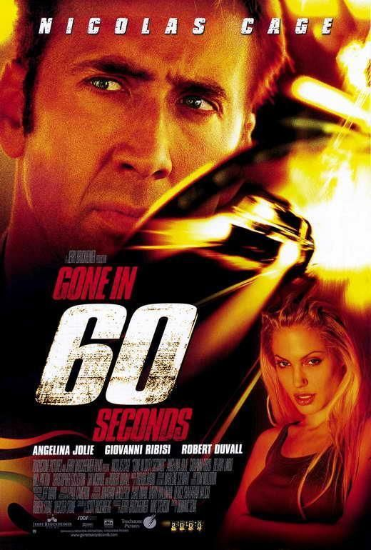 Gone In 60 Seconds Movie Poster 11 X 17 Nicolas Cage Angelina