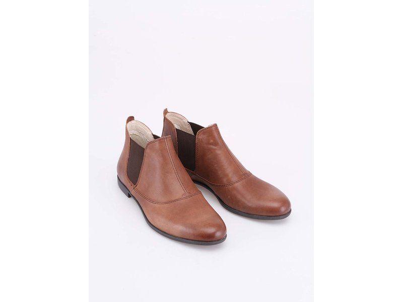 ca843ec4e5d Hnědé dámské kožené chelsea boty Vagabond Tay