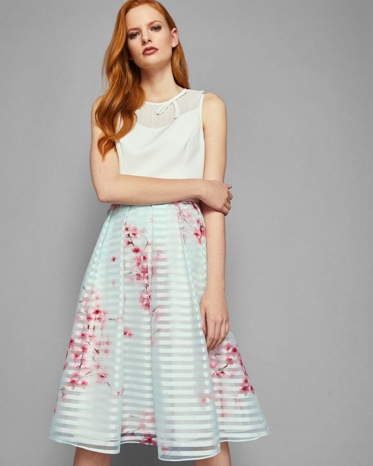 1165c426963 Ted Baker IDOLA Soft Blossom full skirted dress
