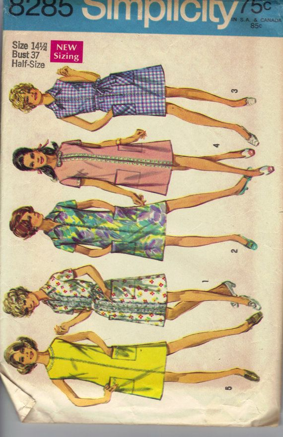 1969 Simplicity Sewing Pattern 8285 Women's by AtomicRegeneration, $5.95
