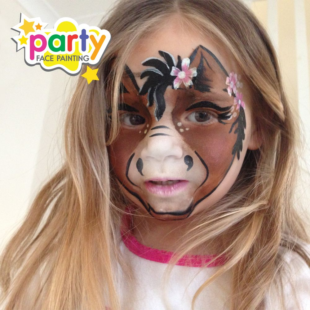 horse face painting face painting pinterest. Black Bedroom Furniture Sets. Home Design Ideas