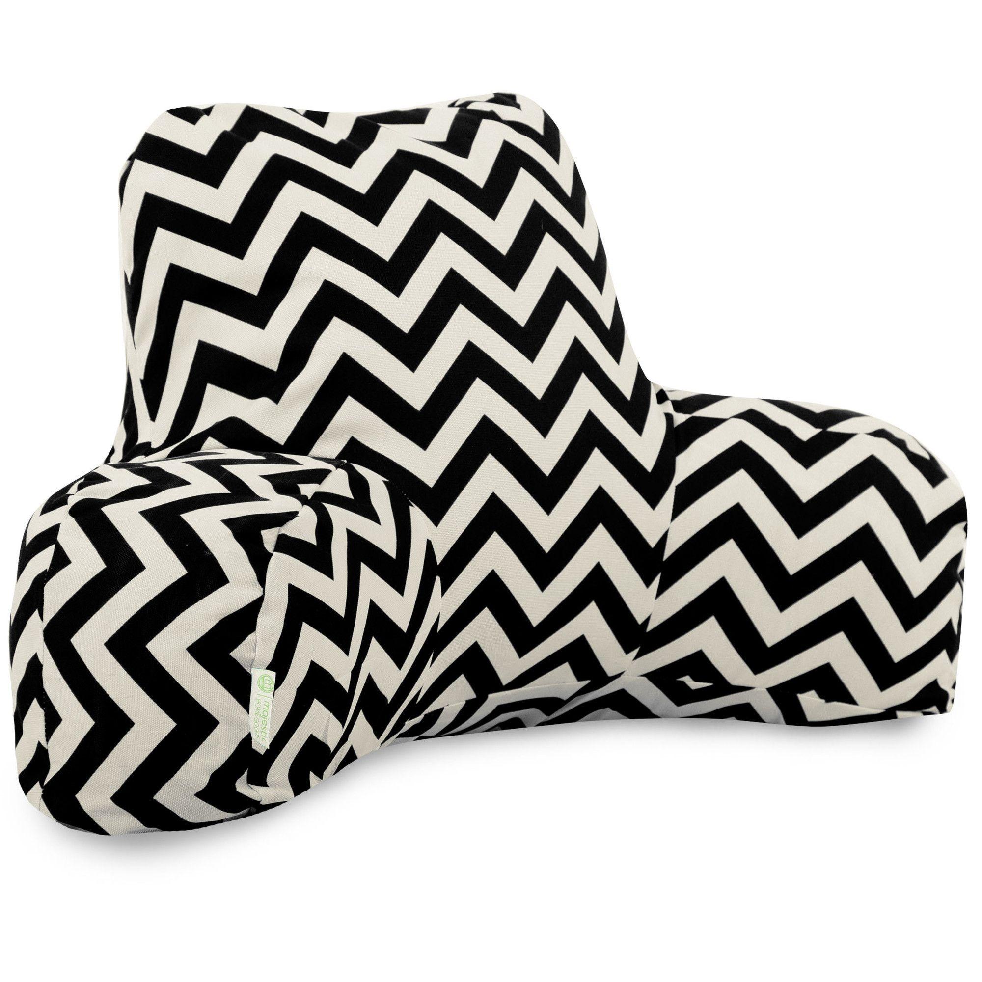Bed rest pillow black - Chevron Indoor Outdoor Bed Rest Pillow