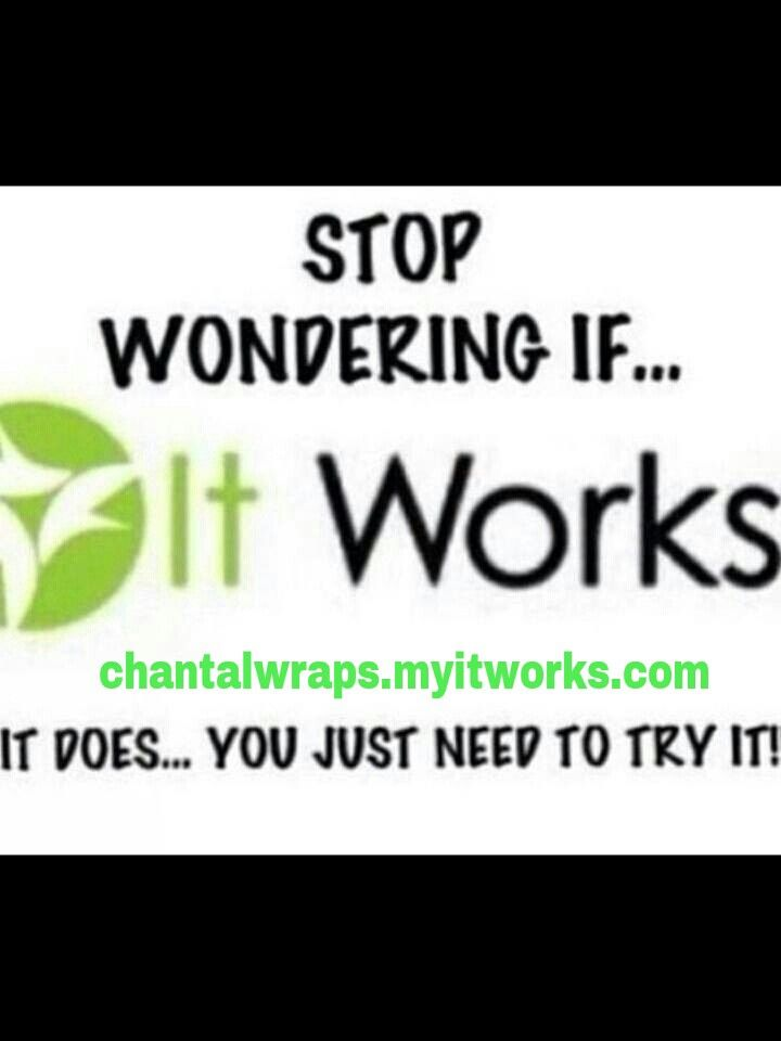 Exactly!  Just try it you wont regret it! Chantalwraps.myitworks.com #itworks