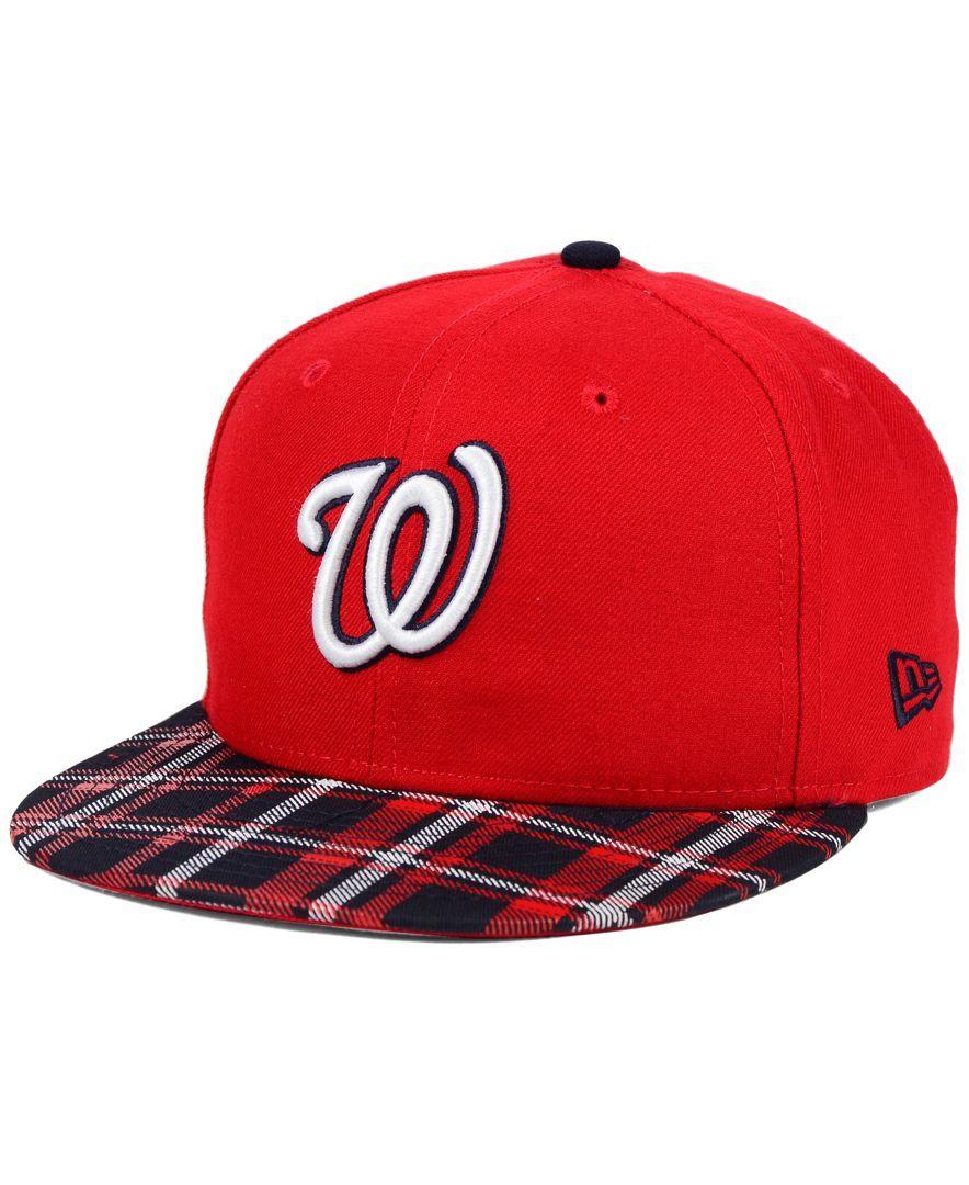 New Era Washington Nationals Plaid 9FIFTY Snapback Cap  e40e1a68813b