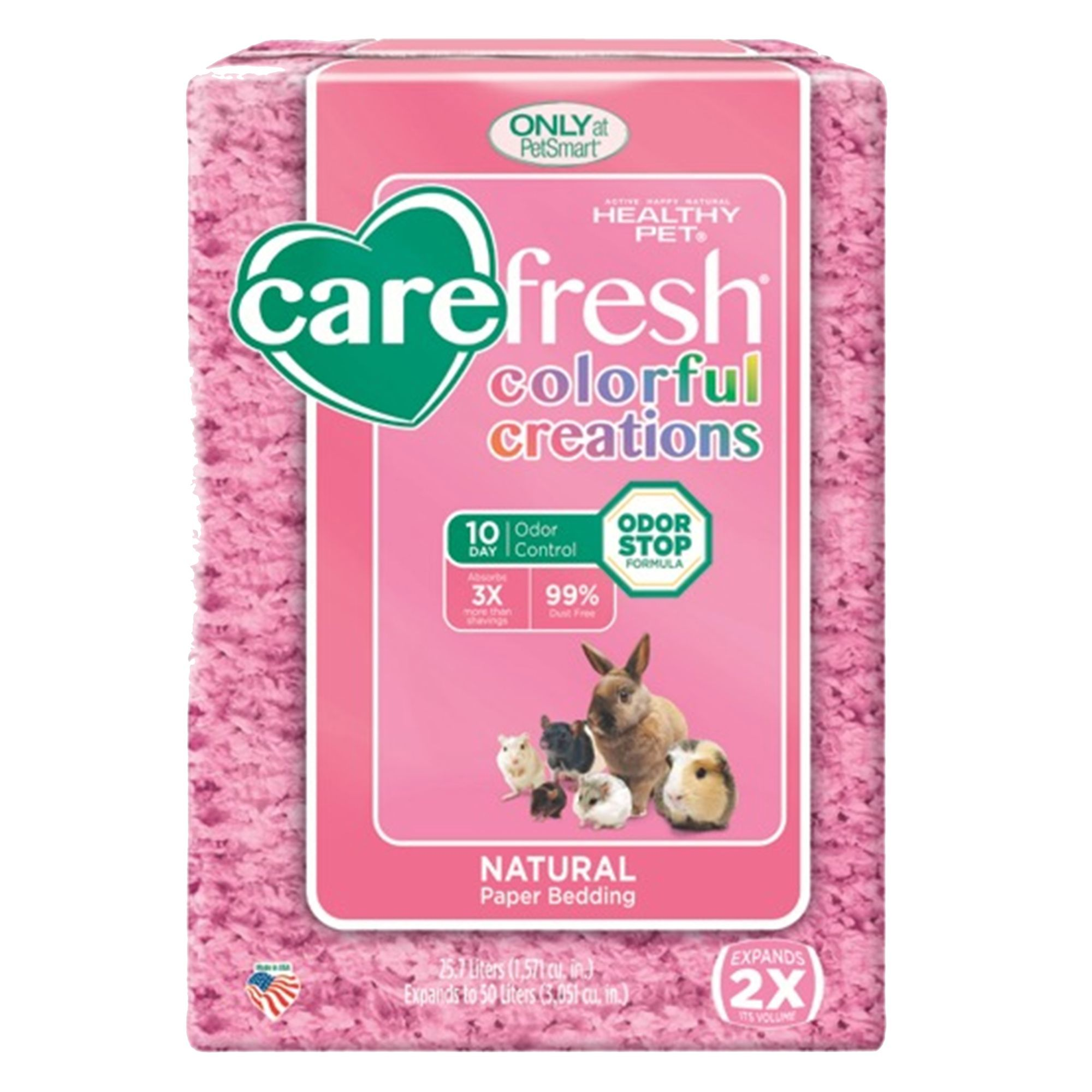 carefresh Colorful Creations Small Pet Bedding size 50 L