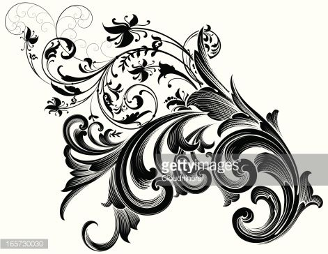 engraving scrollwork clipart - Google Search | My Gypsy ...