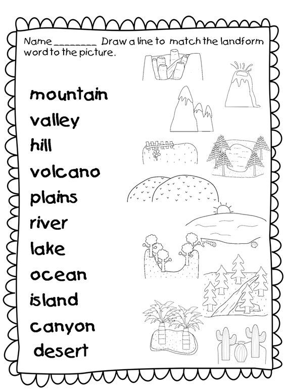 This Landforms Worksheets Allows Students To Match The Names Of Landforms With T Social Studies Worksheets Kindergarten Social Studies 3rd Grade Social Studies First grade social studies worksheets