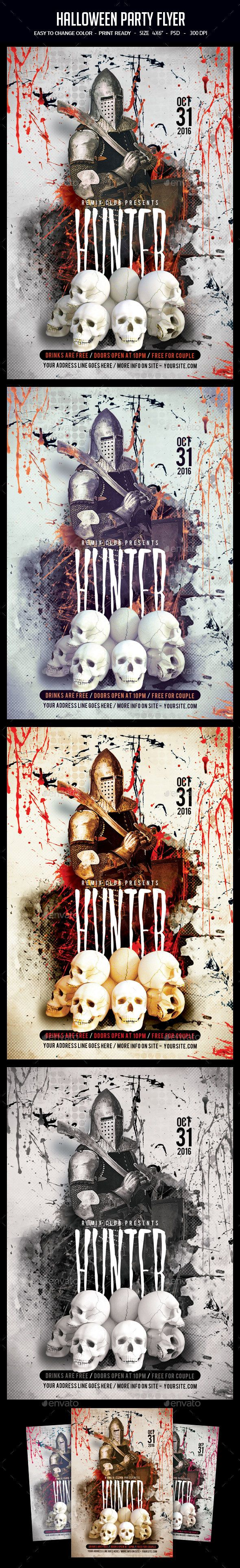 Halloween Party Flyer | Halloween party flyer, Party flyer and Psd ...