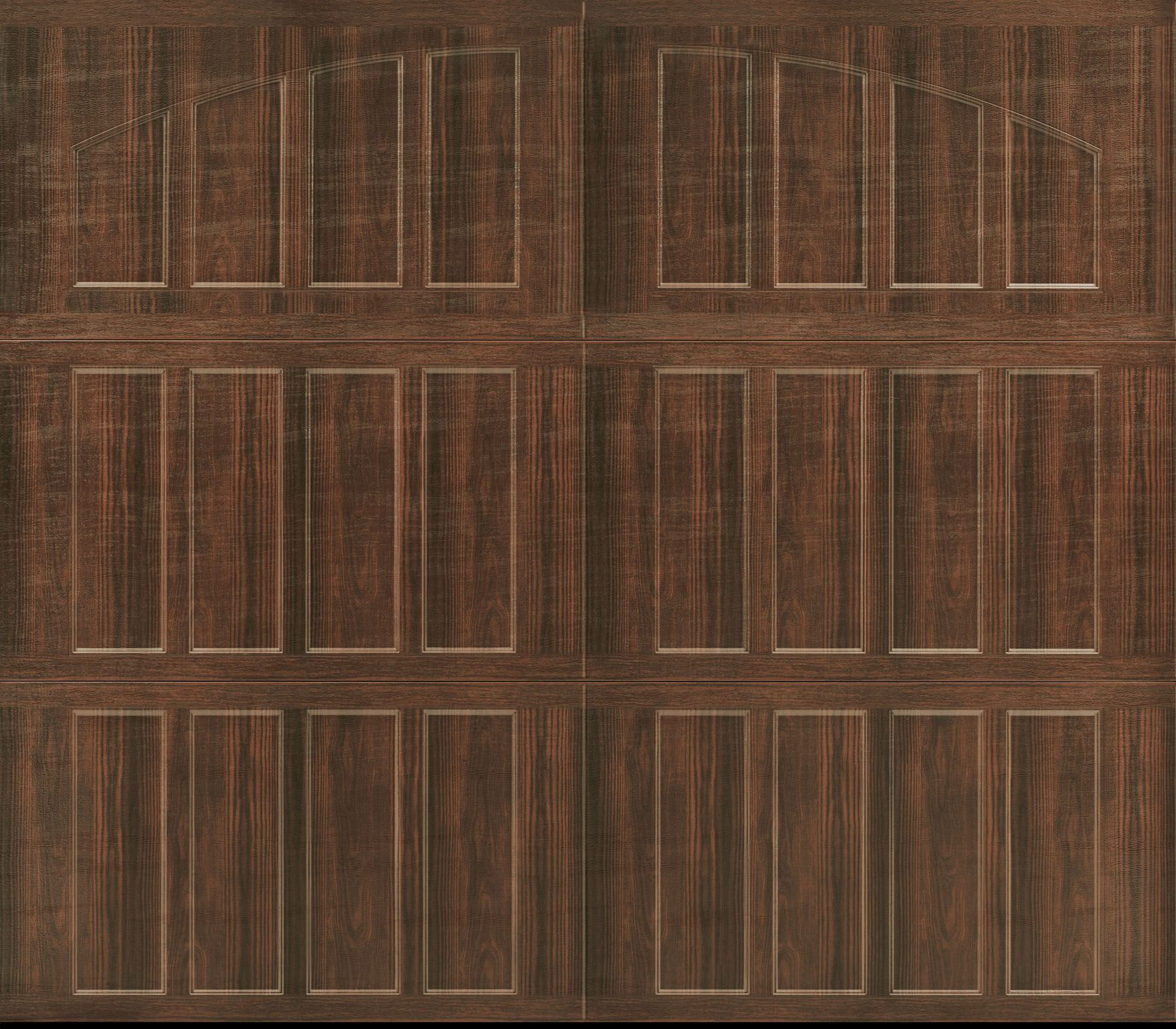 Garage Door- Amarr, Northampton Closed Arch, Walnut Wood Grain ...