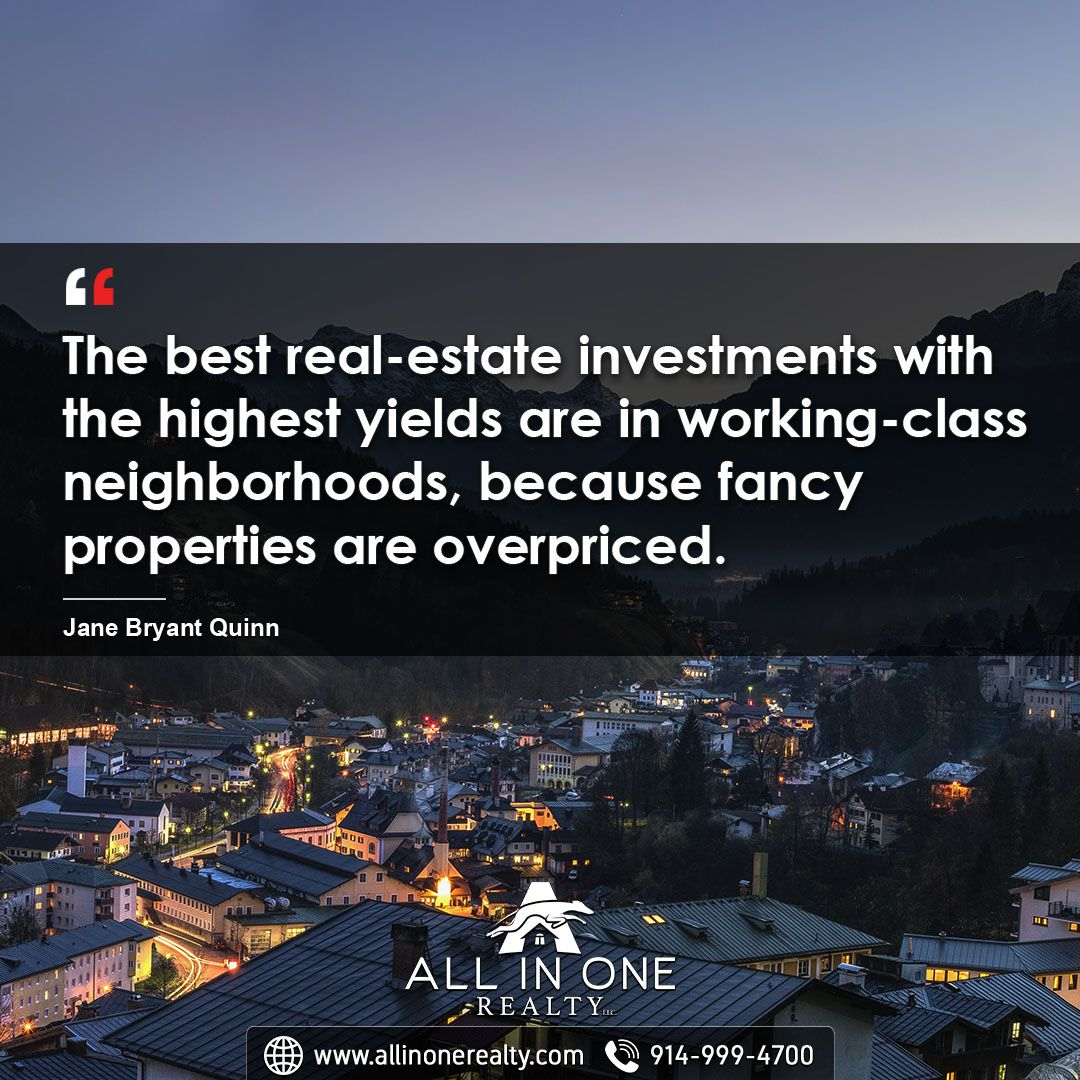 When It Comes To Real Estate Investment Working Class