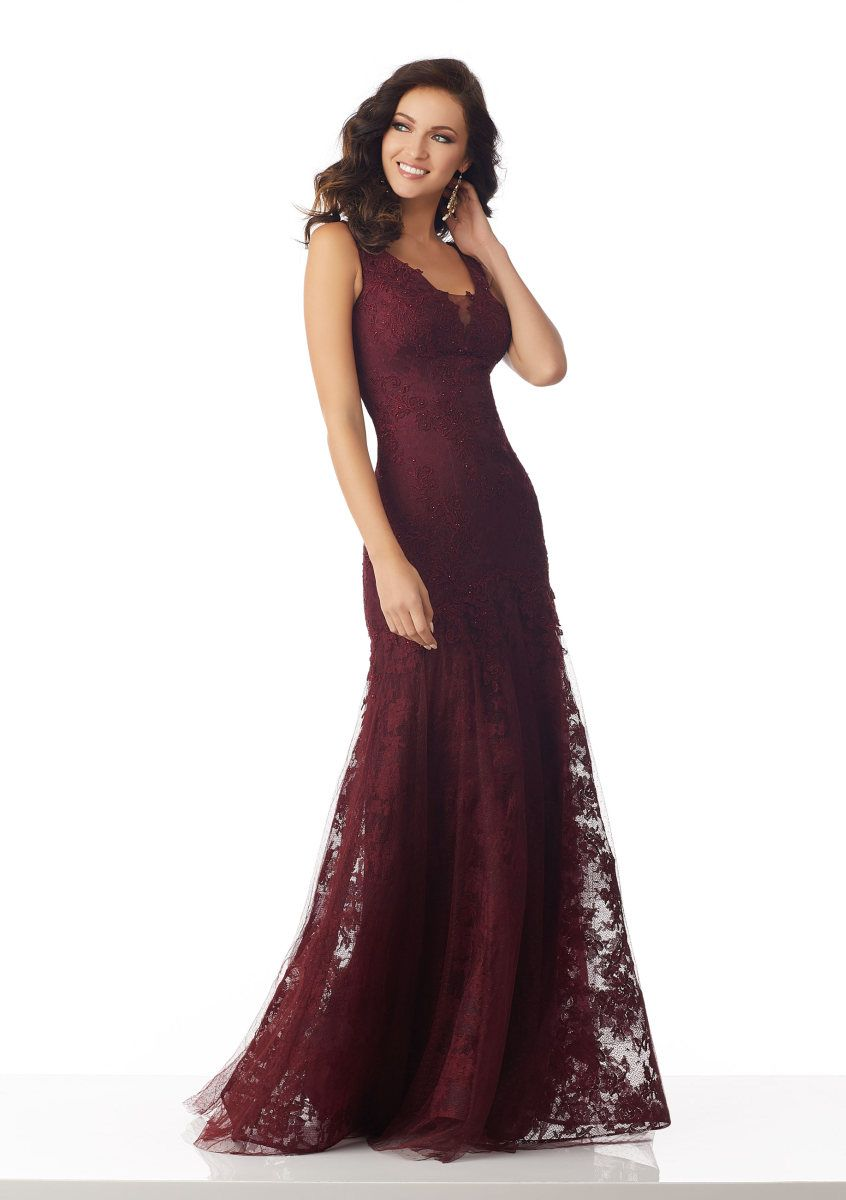 80f9a3041d02 Check out the deal on MGNY by Morilee 71827 Lace Mermaid Gown at French  Novelty