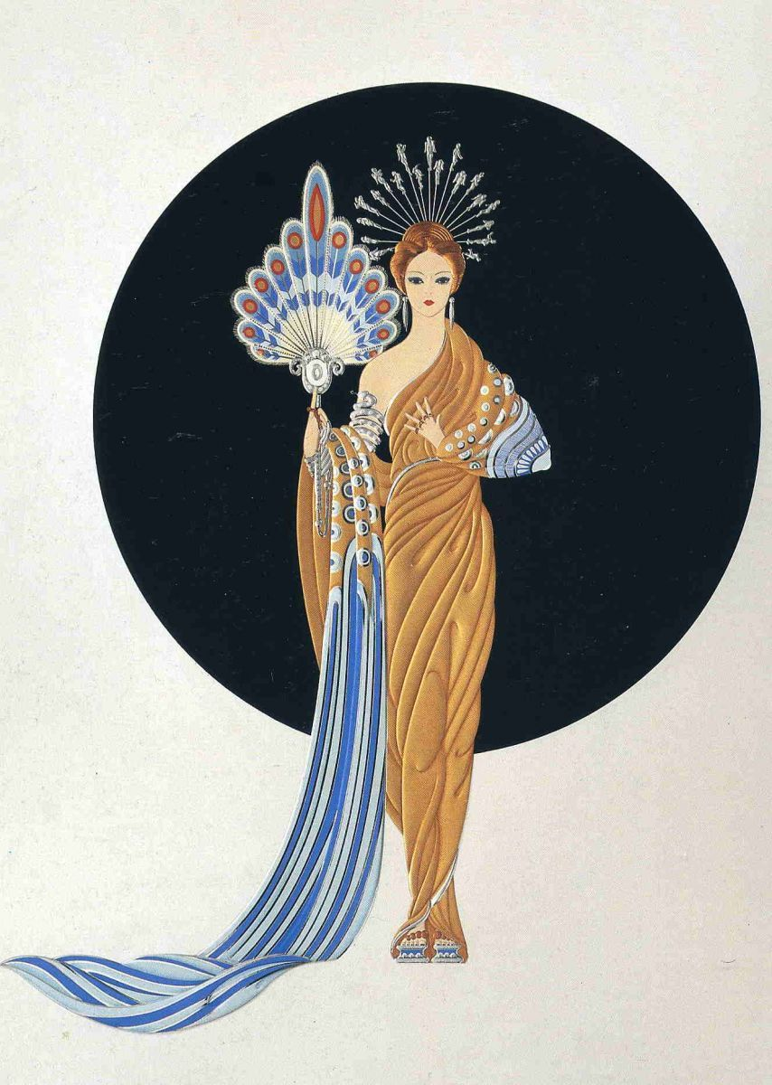 The Fashion Designer Erte Extered A Massive Influence Sartorially Art Deco Artists Art Deco Illustration Erte Art