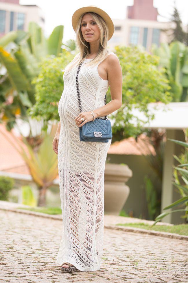 2faad8fc6c1e nati-vozza-vestido-tricot | Look grávida | Look vestido longo, Moda ...