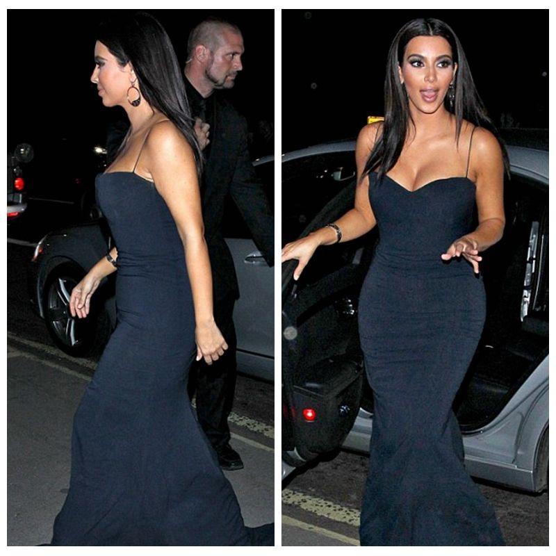 2015 brauch sexy Kim Kardashian promi-kleider lang meerjungfrau ...