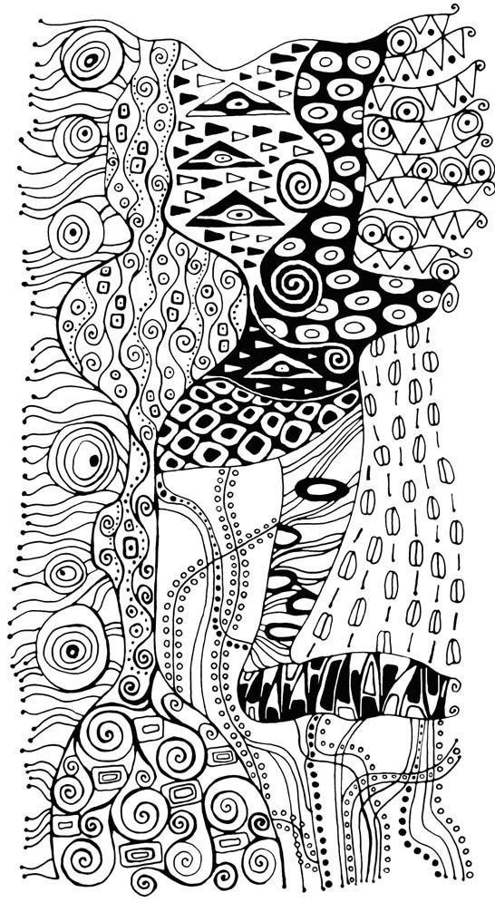 Ausmalen Erwachsene Gustav Klimt: | Art | Pinterest | Ausmalen ...