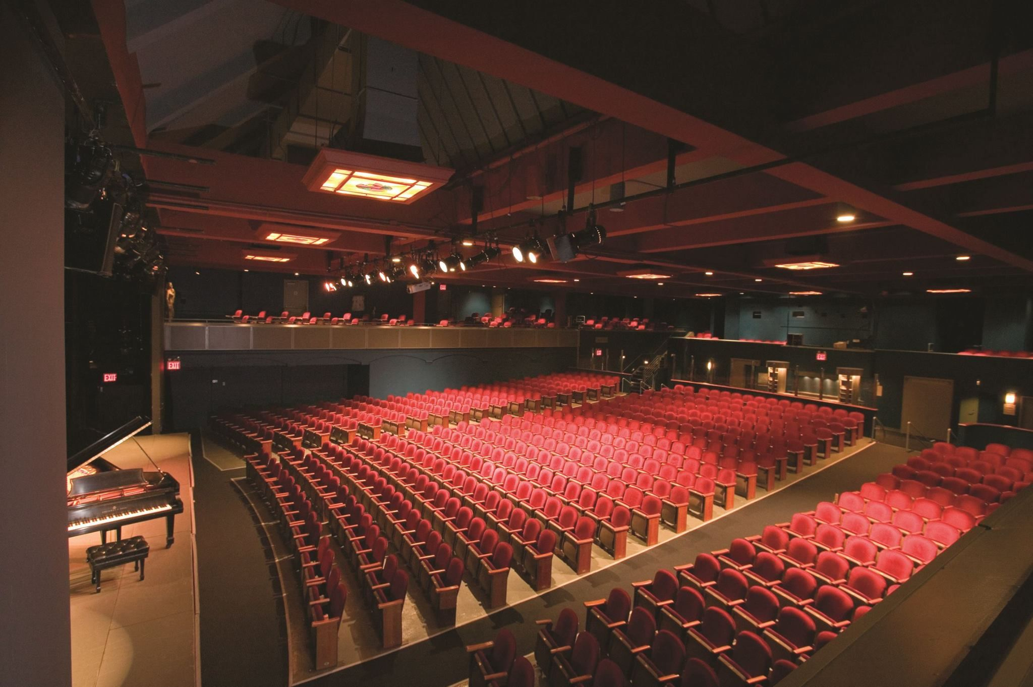 756seat Peter Jay Sharp Theatre with proscenium stage and