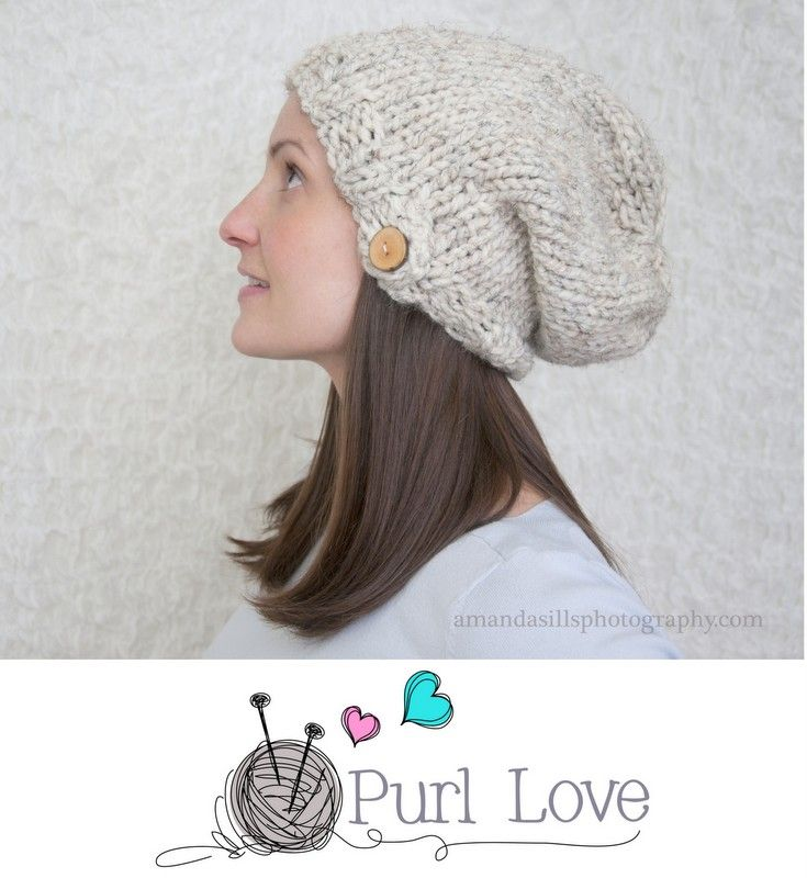 slouch hat knitting pattern by Purl Love | Knitting Patterns ...