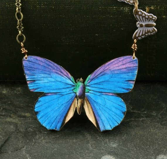 blue listing poshmark necklace jewelry avon m vintage butterfly