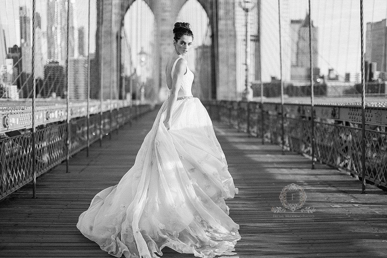 bridal in NYC by Jan Freire Wedding Photography, luxury hand painted ...