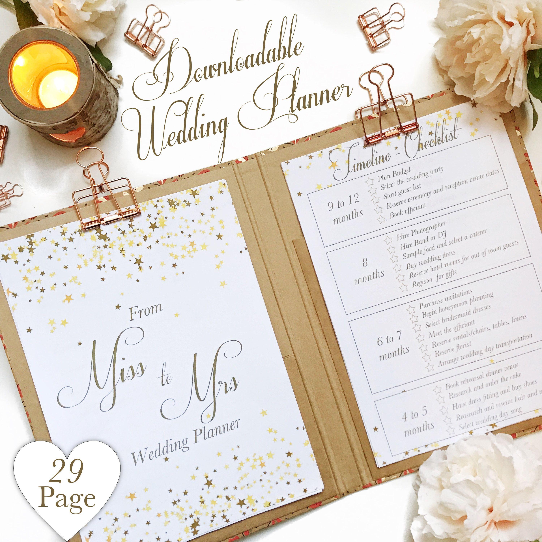 Wedding Venues Near Me Cheap: Downloadable Wedding Planner, Printable Planner Kit