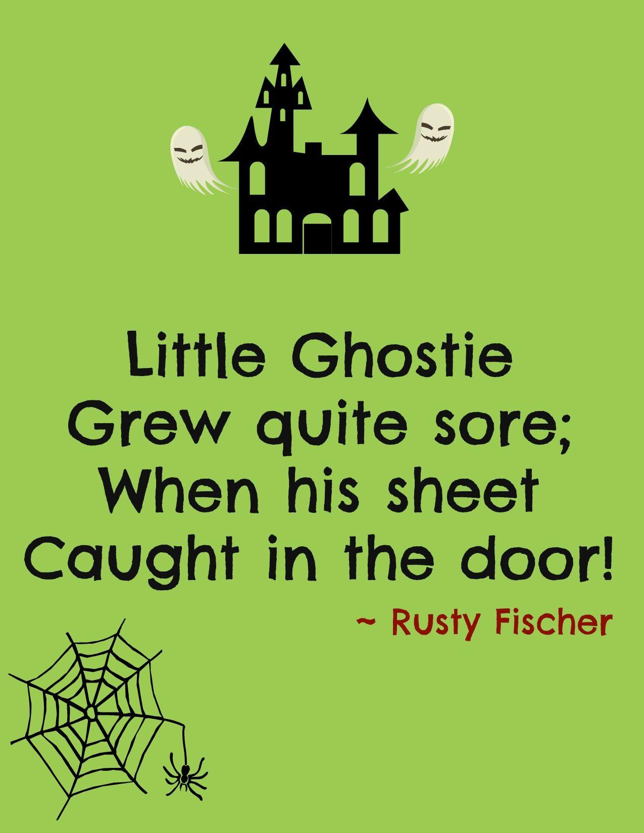 little ghostie a halloween poem | halloweeny screamy! halloween